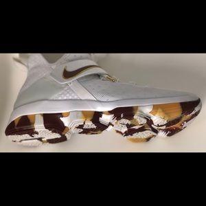 Nike Shoes - Nike Lebron XIV 14 White Wine and Gold